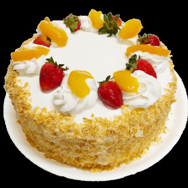 Torta Crema Chantilly con bizcochuelo