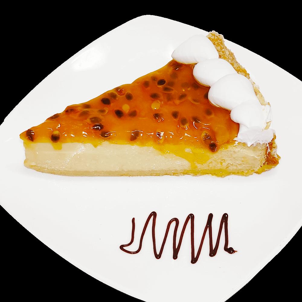 Cheesecake de maracuyá – porción